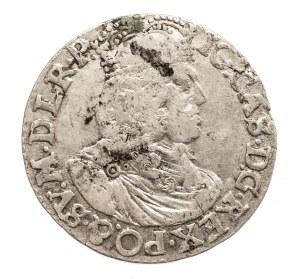 Polska, Jan II Kazimierz Waza 1649-1668, ort 1658-bez obwódek -RZADSZY