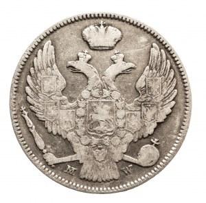 Zabór rosyjski, Mikołaj I 1825-1855, Mikołaj I (1825–1855), 2 złote / 30 kopiejek 1837 MW, Warszawa