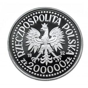 Polska, Rzeczpospolita od 1989 r., 200000 złotych 1992, 500-lecie odkrycia Ameryki