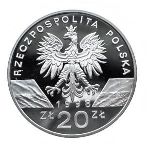 Polska, Rzeczpospolita od 1989 r., 20 złotych 1998, Ropucha paskówka