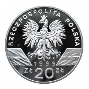 Polska, Rzeczpospolita od 1989 r., 20 złotych 1999, Wilk