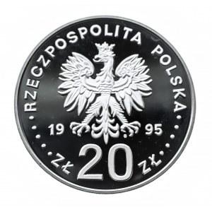 Polska, Rzeczpospolita od 1989 r., 20 złotych 1995, Katyń-Miednoje-Charków 1940