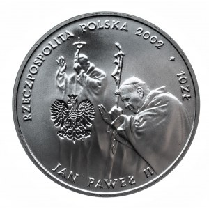 Polska, Rzeczpospolita od 1989 r., 10 złotych 2002, Jan Paweł II