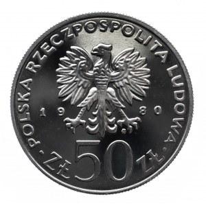Polska, PRL 1944-1989, 50 złotych 1980, Kazimierz I Odnowiciel, miedzionikiel