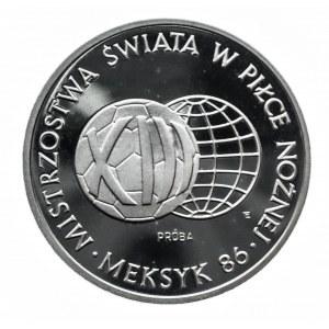 Polska, PRL 1944-1989, 1000 złotych 1986, Mistrzostwa Świata w Piłce Nożnej - meksyk 1986, próba w srebrze