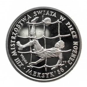 Polska, PRL 1944-1989, 200 złotych 1986, Mistrzostwa Świata w Piłce Nożnej - Meksyk 1986, próba, miedzionikiel