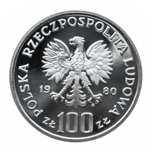 Polska, PRL 1944-1989, 100 złotych 1980, Jan Kochanowski, próba w srebrze