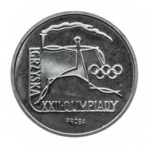 Polska, PRL 1944-1989, 100 złotych 1980, Igrzyska XXII Olimpiady, próba w srebrze