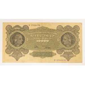 Polska, II Rzeczpospolita 1918-1939, 10000 marek polskich 1922, ser. E