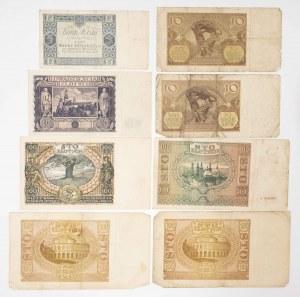 Polska, zestaw banknotów II RP i Generalnej Guberni