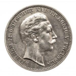 Niemcy, Cesarstwo Niemieckie 1871-1918, Prusy, Wilhelm II 1888-1918, 3 marki 1909 A, Berlin.