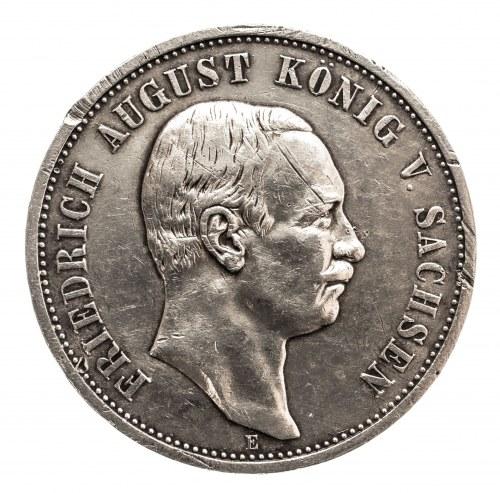 Niemcy, Cesarstwo Niemieckie 1871-1918, Saksonia, Fryderyk August III 1904-1918, 3 marki 1912 E, Muldenhütten.