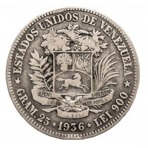 Wenezuela, 5 boliwarów 1936, Filadelfia.