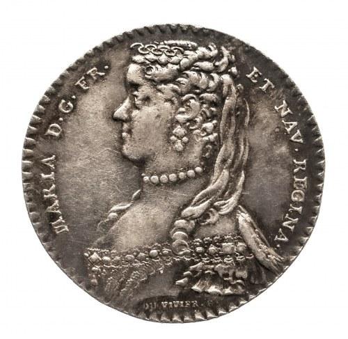 Polska, Francja, Maria Leszczyńska, królowa Francji, żeton noworoczny o wartości ćwierć talara, 1751.