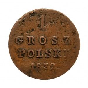 Królestwo Polskie, Mikołaj I 1825-1855, grosz polski 1832 K-G, Warszawa