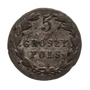 Królestwo Polskie, Aleksander I 1815-1825, 5 groszy 1823 I.B., Warszawa