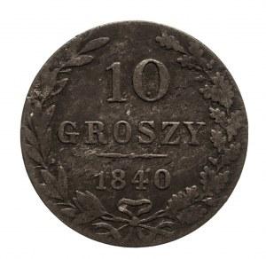 Zabór rosyjski, Mikołaj I 1825-1855, 10 groszy 1840 MW, Warszawa