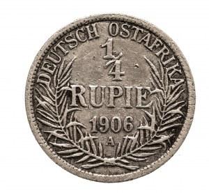 Niemiecka Afryka Wschodnia, Wilhelm II, 1/4 rupi 1906 A, Berlin
