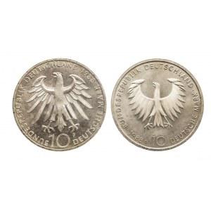 Niemcy, zestaw 10 marek 1988 ZEISS, SCHOPENHAUER (2szt)