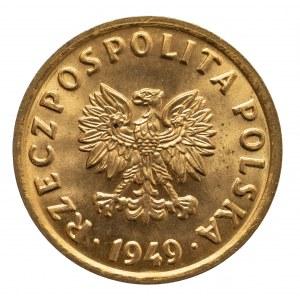 Polska, PRL 1944-1989, 5 groszy 1949 brąz