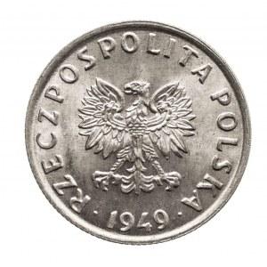 Polska, PRL 1944-1989, 5 groszy 1949 aluminium