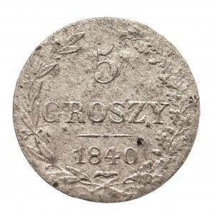 Zabór Rosyjski, Mikołaj I 1825-1855, 5 groszy 1840, Warszawa