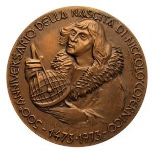 Włochy, medal: 500-lecie urodzin Mikołaja Kopernika