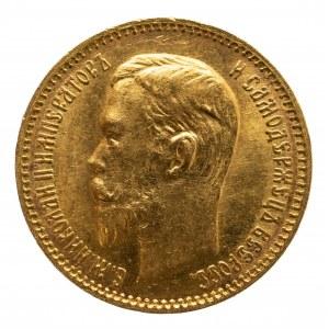 Rosja, Mikołaj II 1894-1917, 5 rubli 1903 AP, Petersburg
