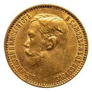 Rosja, Mikołaj II 1894-1917, 5 rubli 1899 ЭБ, Petersburg