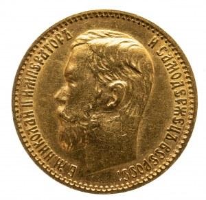 Rosja, Mikołaj II 1894-1917, 5 rubli 1898 АГ, Petersburg