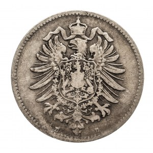 Niemcy, Cesarstwo Niemieckie 1871-1918, 1 marka 1873 D, Monachium
