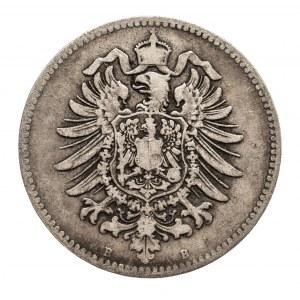 Niemcy, Cesarstwo Niemieckie 1871-1918, 1 marka 1877 B, Hanower, rzadka