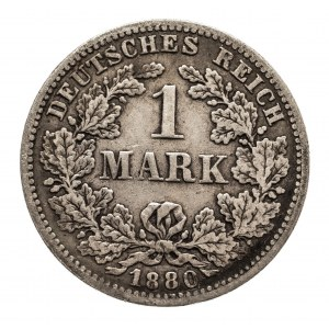 Niemcy, Cesarstwo Niemieckie 1871-1918, 1 marka 1880 F, Stuttgart