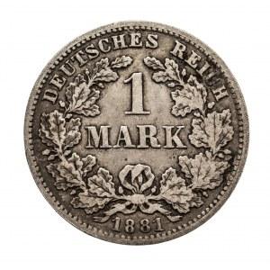 Niemcy, Cesarstwo Niemieckie 1871-1918, 1 marka 1881 D, Monachium