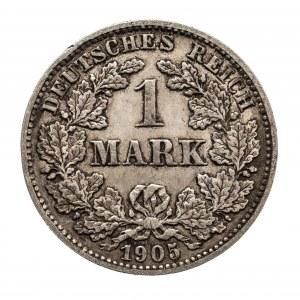 Niemcy, Cesarstwo Niemieckie 1871-1918, 1 marka 1905 J, Hamburg