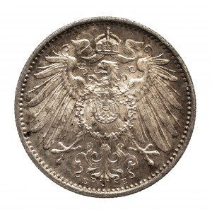 Niemcy, Cesarstwo Niemieckie 1871-1918, 1 marka 1914 E, Muldenhütten