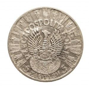 Polska, II Rzeczpospolita, 5 złotych 1934, Józef Piłsudski, Orzeł Strzelecki