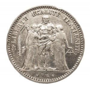 Francja, Republika, 5 franków 1873 A, Paryż