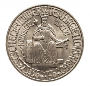 PRL, 10 złotych 1964, Warszawa, Kazimierz Wielki, PRÓBA, miedzionikiel