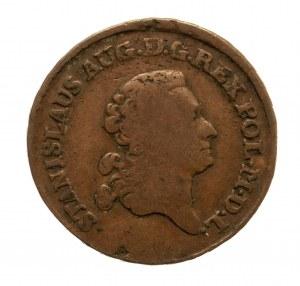 Polska, Stanisław August Poniatowski 1764-1795, trojak 1781 E.B., Warszawa.