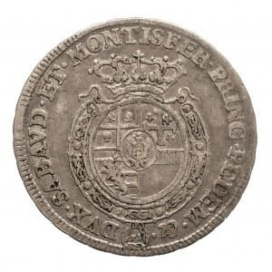 Włochy, Księstwo Sabaudii-Piemontu, Karol Emanuel III, 1/4 scudo 1757