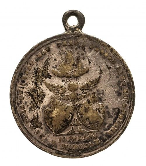 Medalik z 1861 wybity na pamiątkę Unii w Horodle.