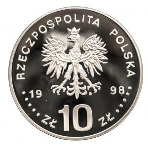 Polska, Rzeczpospolita od 1989 r., 10 złotych 1998, Zygmunt III Waza (1587-1632) - /półpostać/