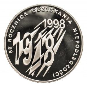 Polska, Rzeczpospolita od 1989 r., 10 złotych 1998, 80. Rocznica Odzyskania Niepodległości