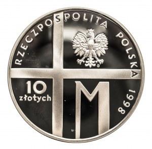 Polska, Rzeczpospolita od 1989 r., 10 złotych 1998, 20 - lecie Pontyfikatu Jana Pawła II