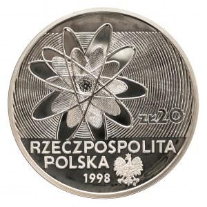 Polska, Rzeczpospolita od 1989 r., 20 złotych 1998, 100 - Lecie Odkrycia Polonu i Radu
