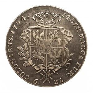 Polska, Stanisław August Poniatowski 1764-1795, talar 1794, Warszawa