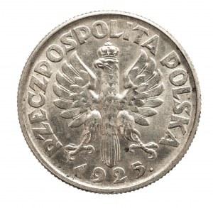 Polska, II Rzeczpospolita 1918-1939, 2 złote 1925 (z kropką), Kobieta i kłosy, Londyn