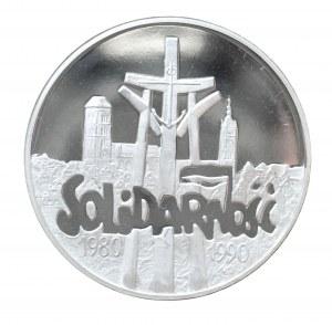Polska, Rzeczpospolita od 1989 r., 100000 złotych 1990, Solidarność, typ D, stempel lustrzany