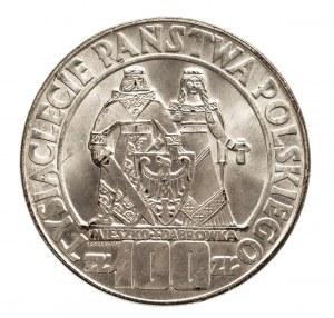 Polska, PRL 1944-1989, 100 złotych 1966 Mieszko i Dąbrówka, srebro (1)
